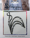 Large Leaf Jeweled Temporary Tattoo - Mark Richards