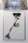 Red & Black Flower Jeweled Temporary Tattoo - Mark Richards