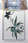 Teal & Black Butterfly Jeweled Temporary Tattoo - Mark Richards