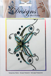Large Ornate Butterfly Jeweled Temporary Tattoo - Mark Richards