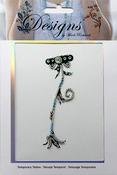Gold Flower Jeweled Temporary Tattoo - Mark Richards