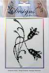 Tulips Jeweled Temporary Tattoo - Mark Richards