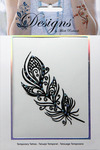 Pretty Feather Jeweled Temporary Tattoo - Mark Richards