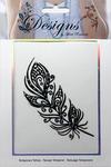 Pretty Feather Jeweled Temporary Tattoo - Mark Richards