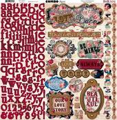Love & Lace Combo Sticker Sheet - Bo Bunny