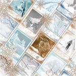 Arctic Rim Glitter Paper - Whiteout - Bo Bunny