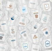 Exhilarating Glitter Paper - Whiteout - Bo Bunny