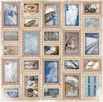 Journey Glitter Paper - Whiteout - Bo Bunny