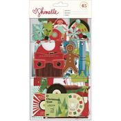 Christmas Magic Ephemera With Silver Foil - Shimelle