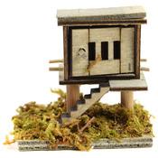 """Wood - Micro Mini Garden Chicken Coop 2""""X1.75"""""""