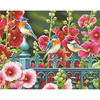 """Hollyhock Gate - Paint Works Paint By Number Kit 14""""X11"""""""