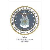 "12""x9.5"" 14 Count  - U.S. Air Force Emblem Counted Cross Stitch Kit"