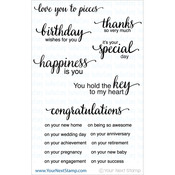 "Whatnot Sentiment Set Four - Your Next Stamp Clear Stamps 4""X4"""