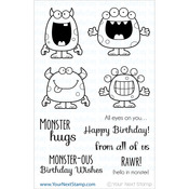 "Silly Monsters - Your Next Stamp Clear Stamps 4""X6"""