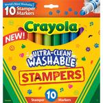 Crayola Ultra-Clean Washable Stamper Markers 10/Pkg