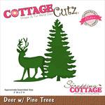 Deer W/Pine Tree - CottageCutz Elites Die
