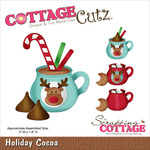 """Holiday Cocoa 3""""X1.8"""" - CottageCutz Die"""