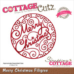 "Merry Christmas Filigree 3""X3"" - CottageCutz Elites Die"