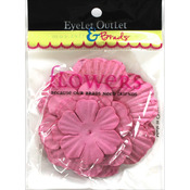 Pink230 - Eyelet Outlet Flowers 40/Pkg