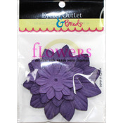 Purple267 - Eyelet Outlet Flowers 40/Pkg
