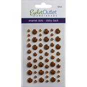 Glitter Gold - Eyelet Outlet Adhesive-Back Enamel Dots 54/Pkg
