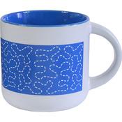Blue - Quilt Happy Meandering Mug 14oz