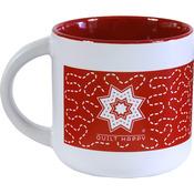 Red - Quilt Happy Meandering Mug 14oz