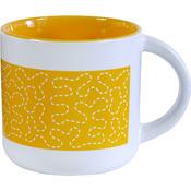 Sunshine Yellow - Quilt Happy Meandering Mug 14oz