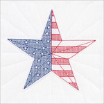 "American Star - Stamped White Quilt Blocks 18""X18"" 6/Pkg"