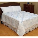 XX Design - Stamped White Quilt Top