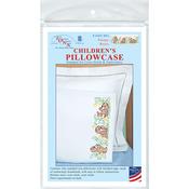 Sleepy Bears - Children's Stamped Pillowcase W/White Perle Edge 1/Pkg