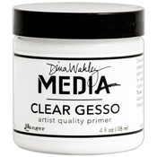 Dina Wakley Media Mediums Clear Gesso 4oz Jar