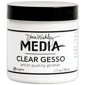 Dina Wakley Media Mediums Clear Gesso 4oz Jar