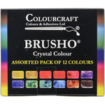 Brusho Crystal Colours Set 12/Pkg