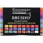 Brusho Crystal Colours Set 24/Pkg