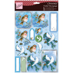 Pair Of Doves - Anita's A4 Foiled Decoupage Sheet