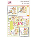 Cat & Dog Romance - Anita's A4 Foiled Decoupage Sheet