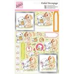 Cat & Dog Romance - Anita's A4 Foiled Decoupage Sheet