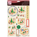 Rabbit & Bear Christmas - Anita's A4 Foiled Decoupage Sheet