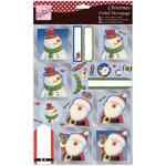 Santa & Snowman - Anita's A4 Foiled Decoupage Sheet