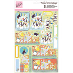 Penguin Birthday - Anita's A4 Foiled Decoupage Sheet