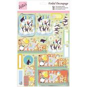 Penguin Birthday - Anita's A4 Foiled Decoupage Sheet