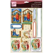The Nativity - Anita's A4 Foiled Decoupage Sheet
