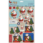 Toys - Papermania Jolly Santa A4 Decoupage Pack