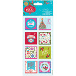 Linen Finish - Papermania Folk Christmas Tear Off Toppers 16/Pkg