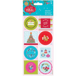 Linen Finish - Papermania Folk Christmas Stickers