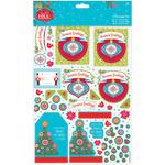 Season's Greetings, Linen Finish - Papermania Folk Christmas A4 Decoupage Pack
