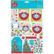 Season's Greetings, Linen Finish - Papermania Folk Christmas A4 Decoupage Pack