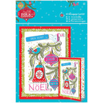A5 Noel, Linen Finish - Papermania Folk Christmas Decoupage Card Kit