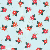 Poinsettia Paper - Wish Season - Fancy Pants